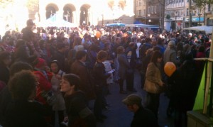 The Crowd at the Plaza
