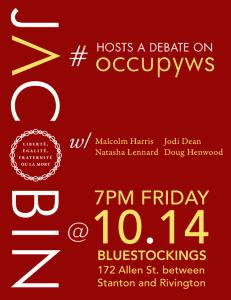 OWS debate flyer