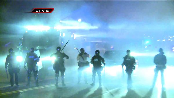 Cops in Ferguson